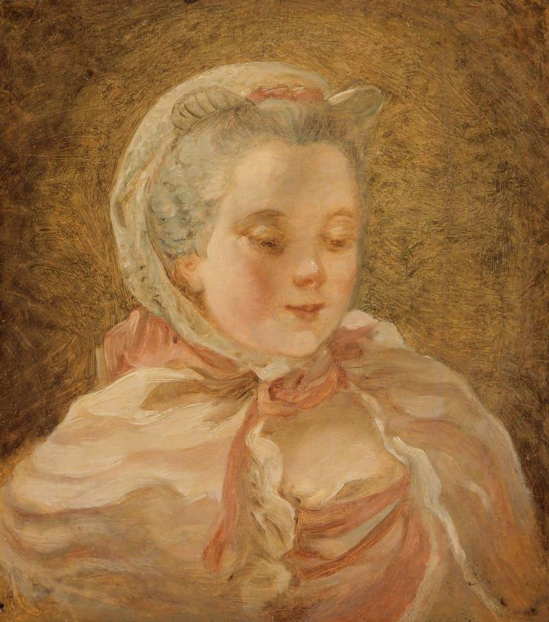 Head of a Young Woman Madame de Pompadour | Unidentified artist | oil painting