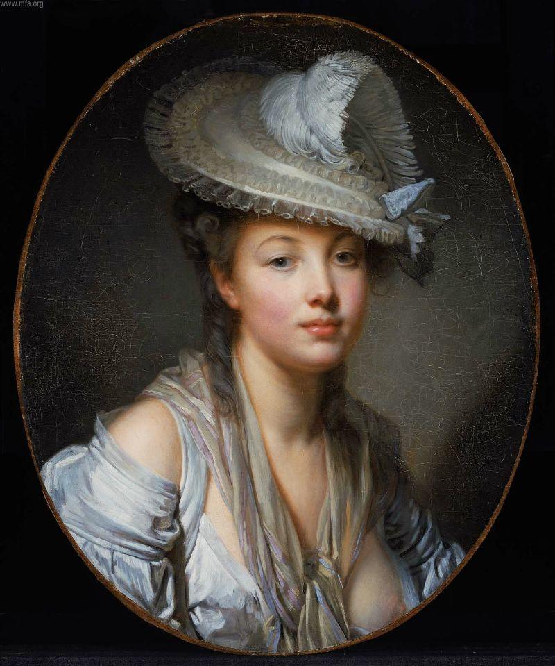 The White Hat 1780 | Jean Baptiste Greuze | oil painting