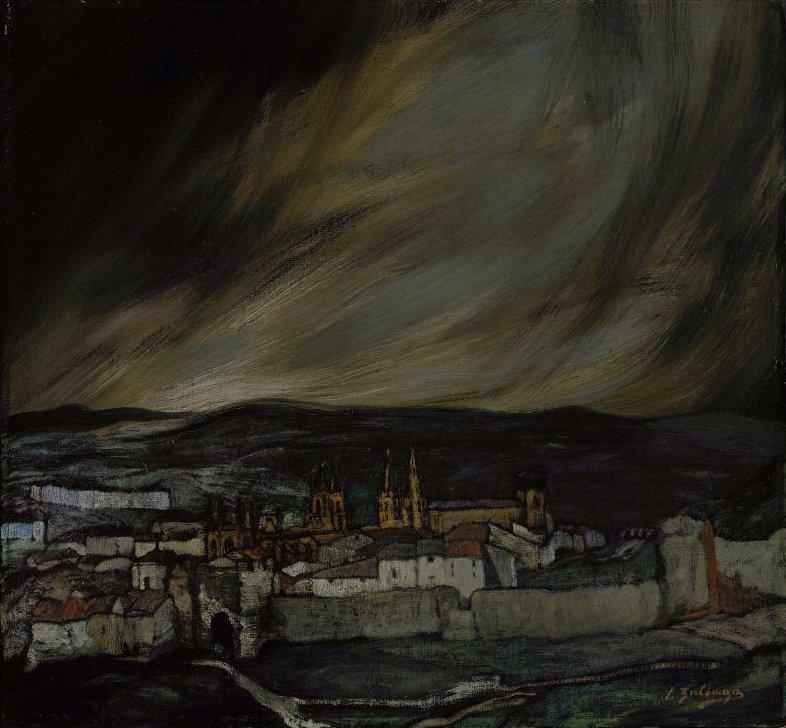 Castilian Landscape 1909 | Ignacio Zuloaga y Zabaleta | oil painting