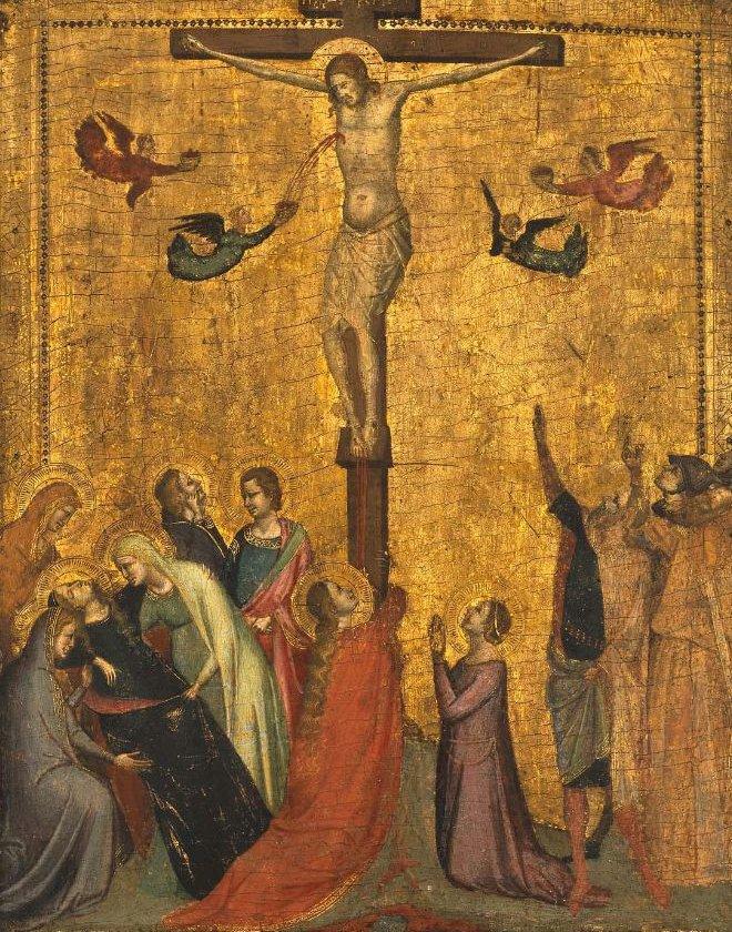 DThe Crucifixion before 1328 | Bernardo Daddi | oil painting