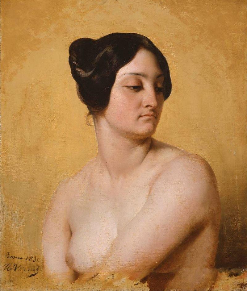 Study of Olympe Pelissier as Judith 1830 | Emile Jean Horace Vernet | oil painting