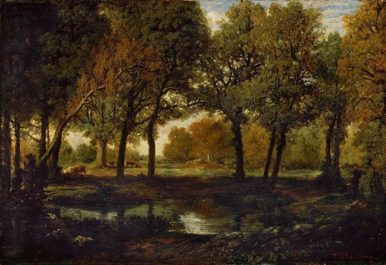 Pool in the Forest 1850s | Theodore Rousseau | oil painting