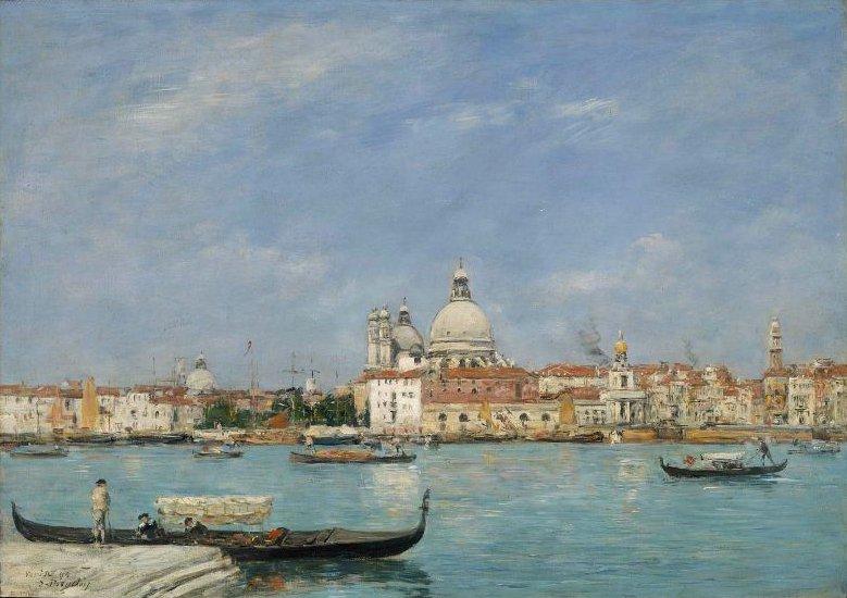 Venice Santa Maria della Salute from San Giorgio 1895 | Eugene Louis Boudin | oil painting