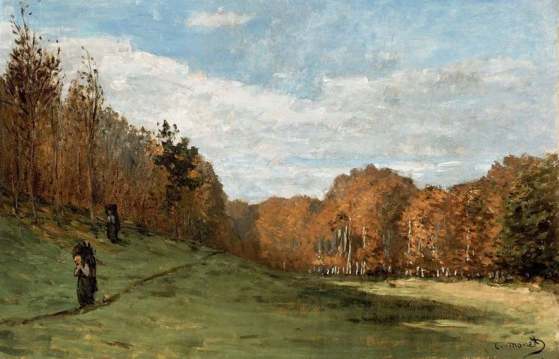 Woodgatherers at the Edge of the Forest 1863 | Claude Monet | oil painting