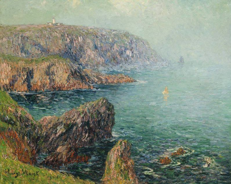 Cliffs at Ouessant Brittany 1901 | Henry Moret | oil painting