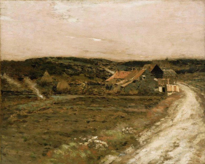 Farm Beside an Old Road 1880s | Jean Charles Cazin | oil painting
