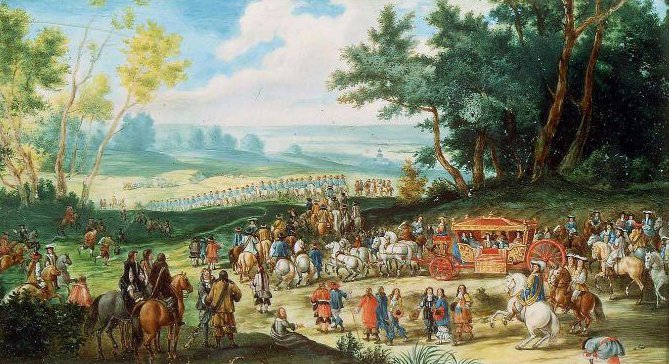 Aristocrats and Royalty at an Event in the Country | Unidentified artist | oil painting