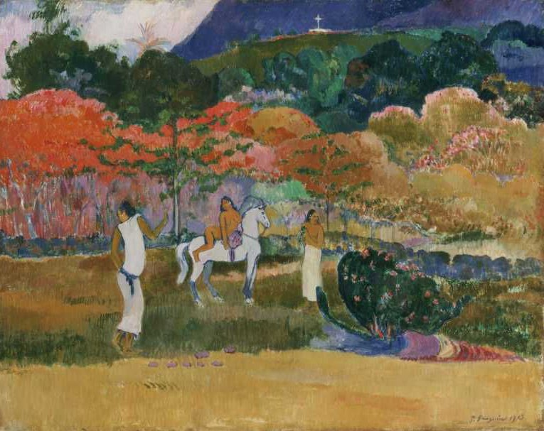 Women and a White Horse 1903 | Paul Gauguin | oil painting