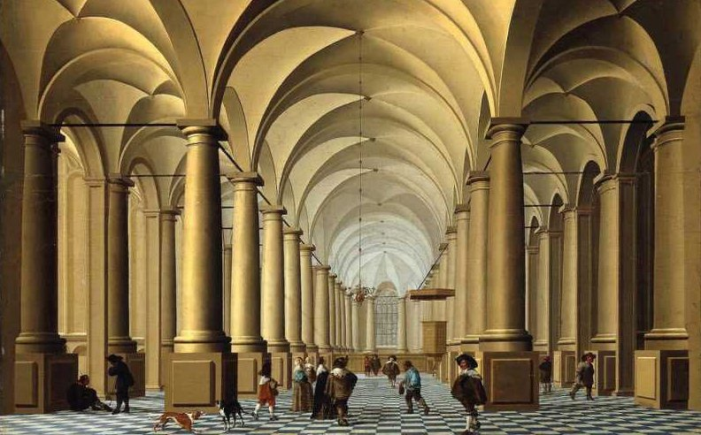 Interior of a Church | Unidentified artist | oil painting