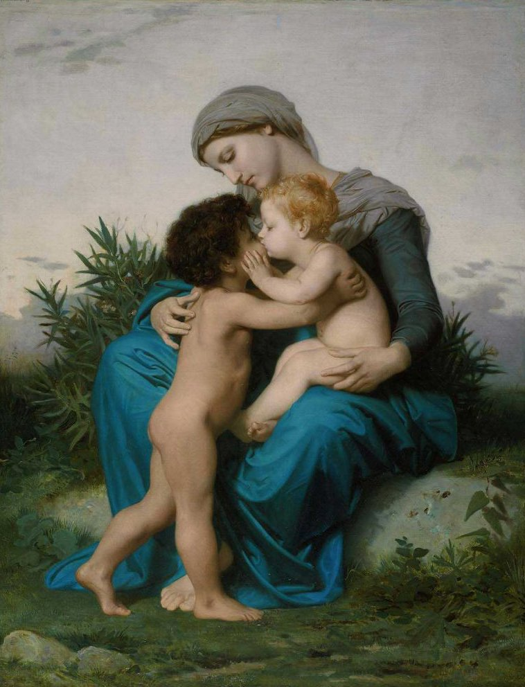 Fraternal Love 1851 | William Adolphe Bouguereau | oil painting