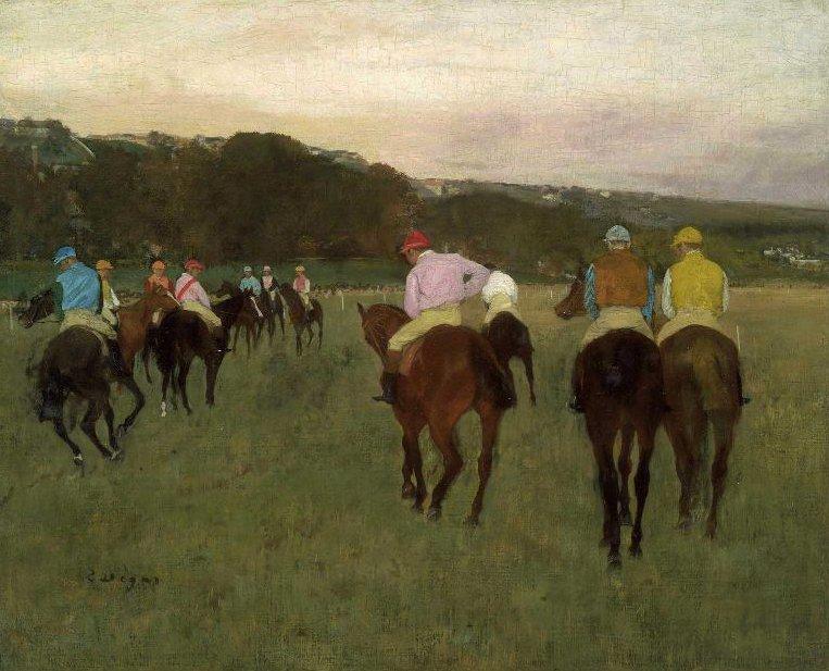 Race Horses at Longchamp 1871 | Edgar Degas | oil painting