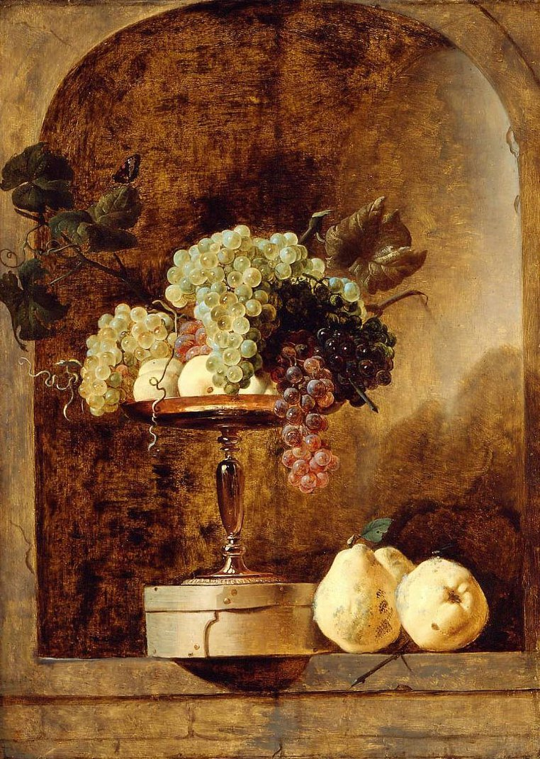 Grapes Peaches and Quinces in a Niche | Frans Snyders | oil painting