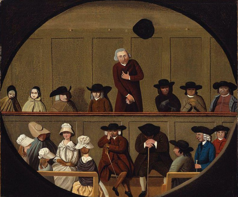 Quaker Meeting | Unidentified artist | oil painting