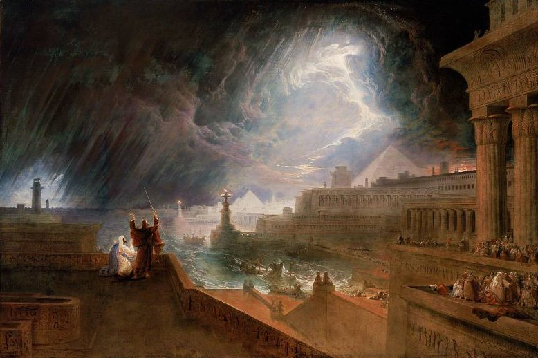 Seventh Plague of Egypt 1823 | John Martin | oil painting