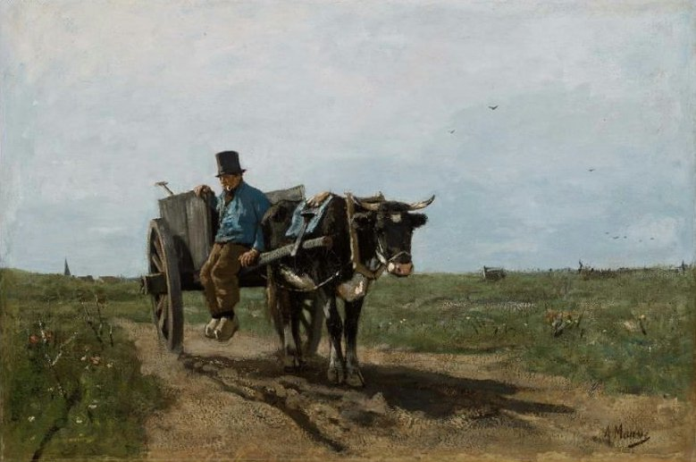 Carter on a Country Road 1867 | Anton Mauve | oil painting