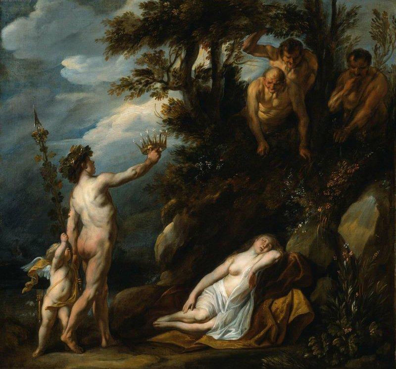 Bacchus Discovering Ariadne 1640s | Jacob Jordaens | oil painting