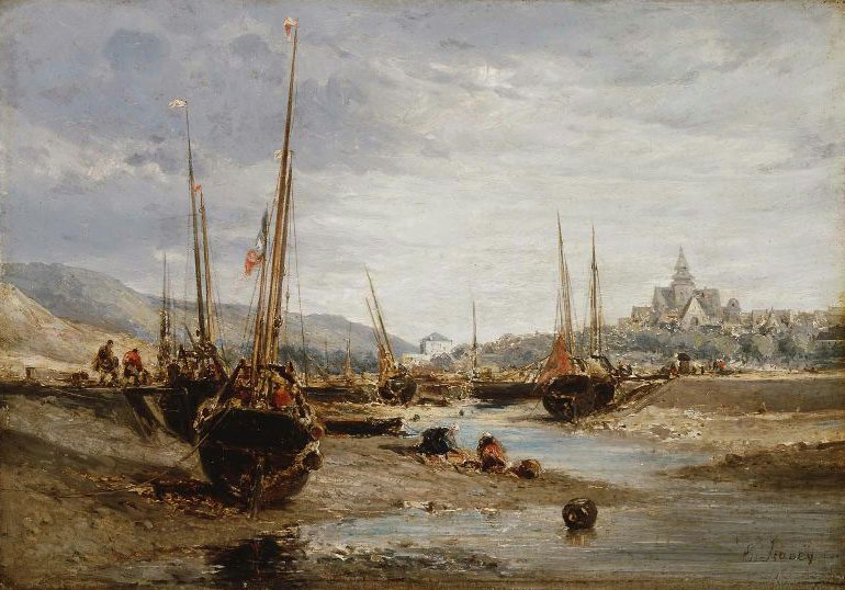 Harbor View 1850 | Eugene Isabey | oil painting