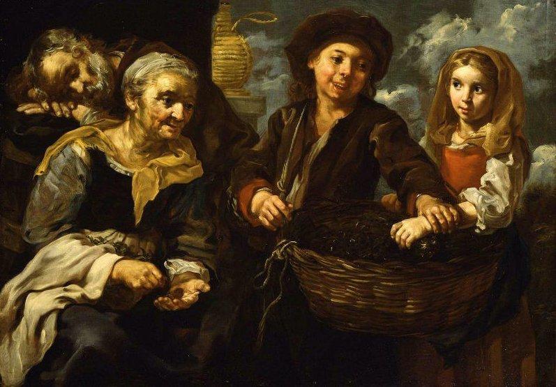 Young Boy Selling Vegetables | Bernard Kei | oil painting