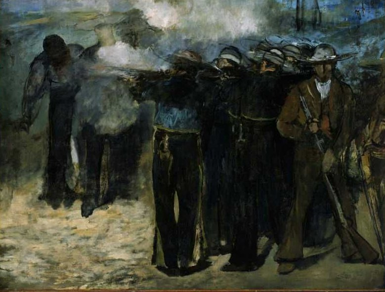 Execution of the Emperor Maximilian 1867 | Edouard Manet | oil painting