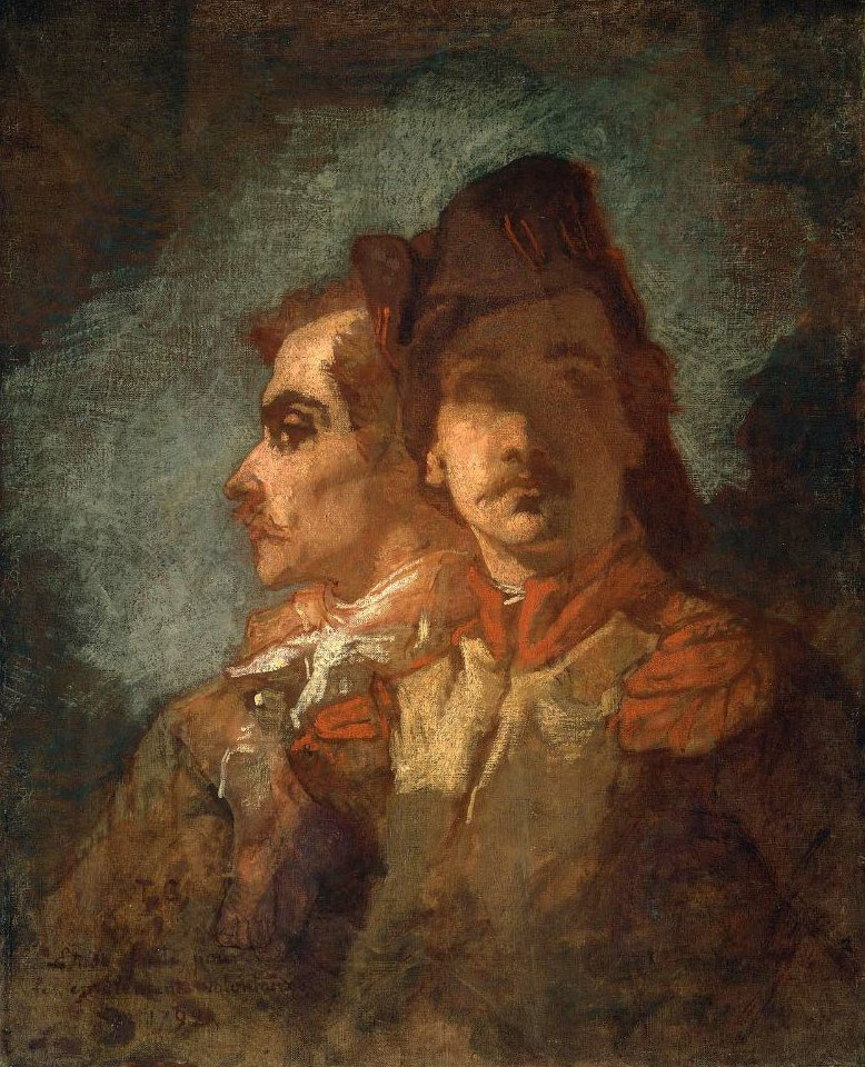 Two Soldiers study for The Enrollment of the Volunteers of | Thomas Couture | oil painting