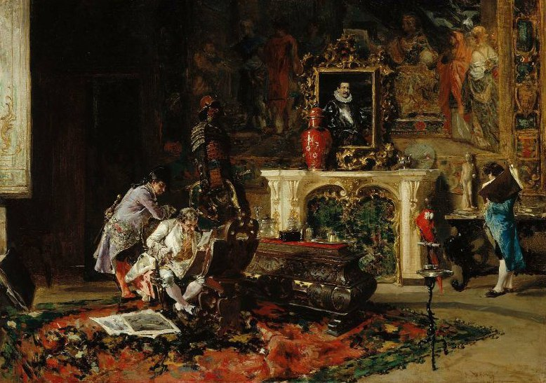 Antiquaries 1863 | Mariano Jose Maria Bernardo Fortuny y Carbo | oil painting