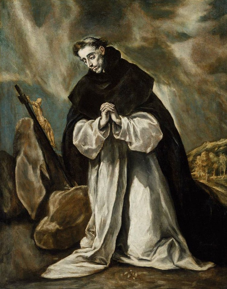 Saint Dominic in Prayer 1605 | El Greco | oil painting