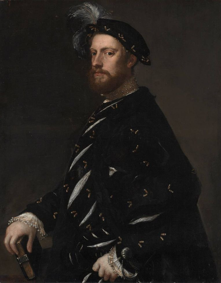 Portrait of a Man Holding a Book 1540 | Titian | oil painting