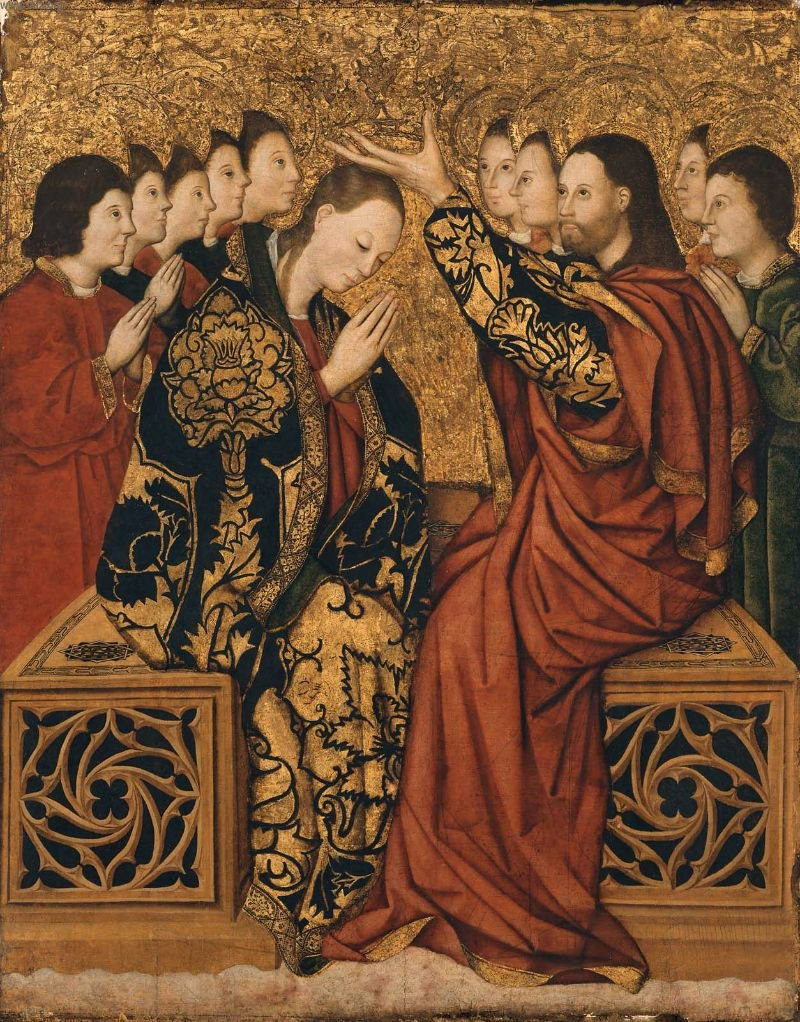 Coronation of the Virgin 15th | Master of Bonastre | oil painting