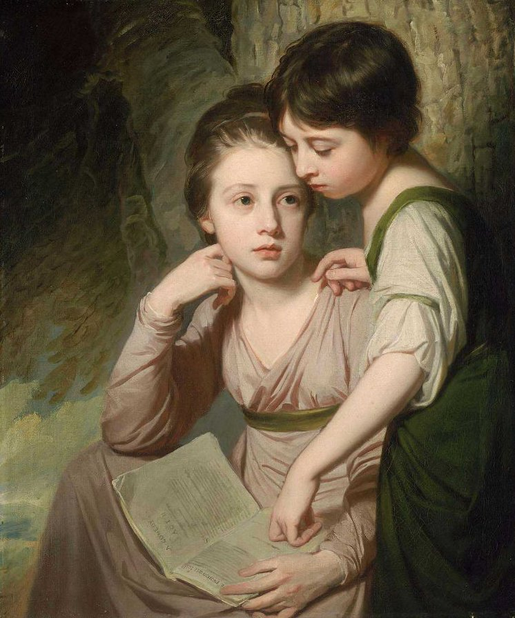 Portrait of Two Girls Misses Cumberland 1772 73 | George Romney | oil painting