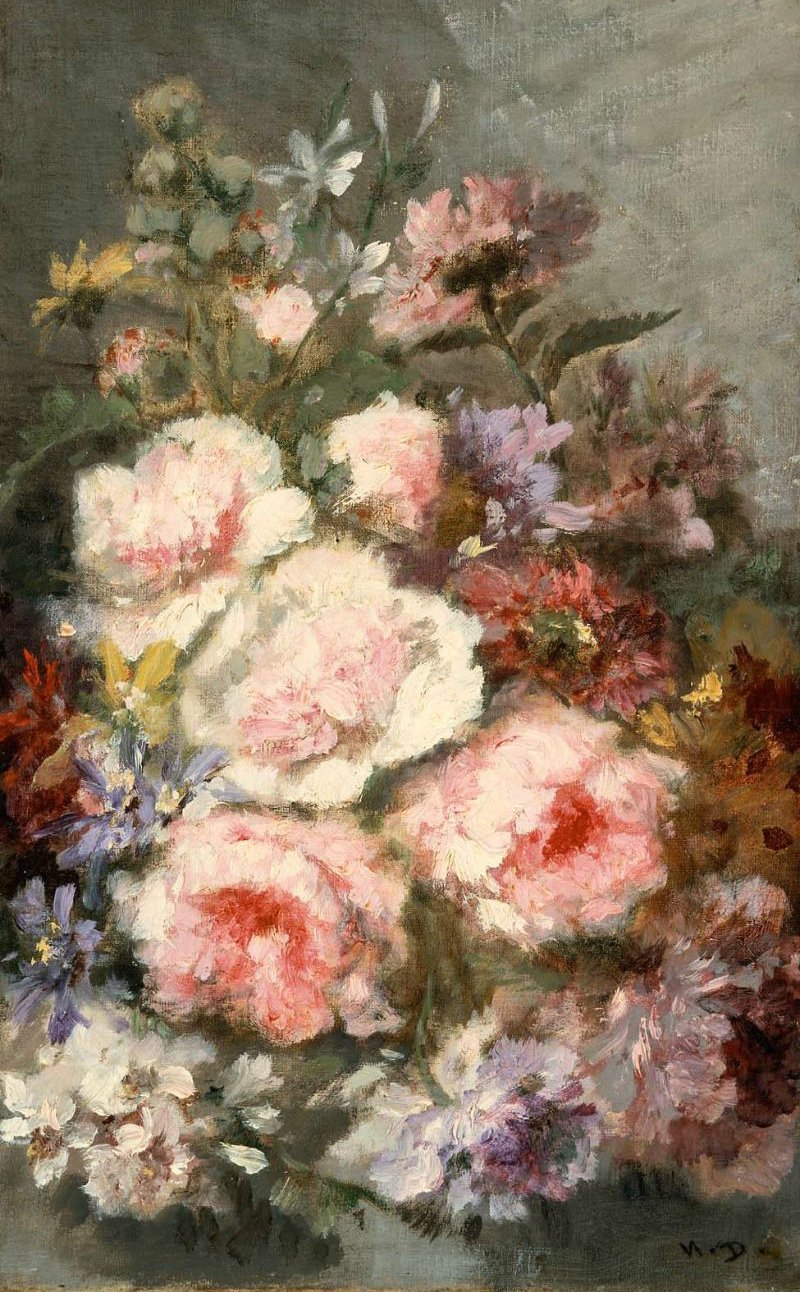 Flowers | Narcisse Virgile Diaz de la Pena | oil painting