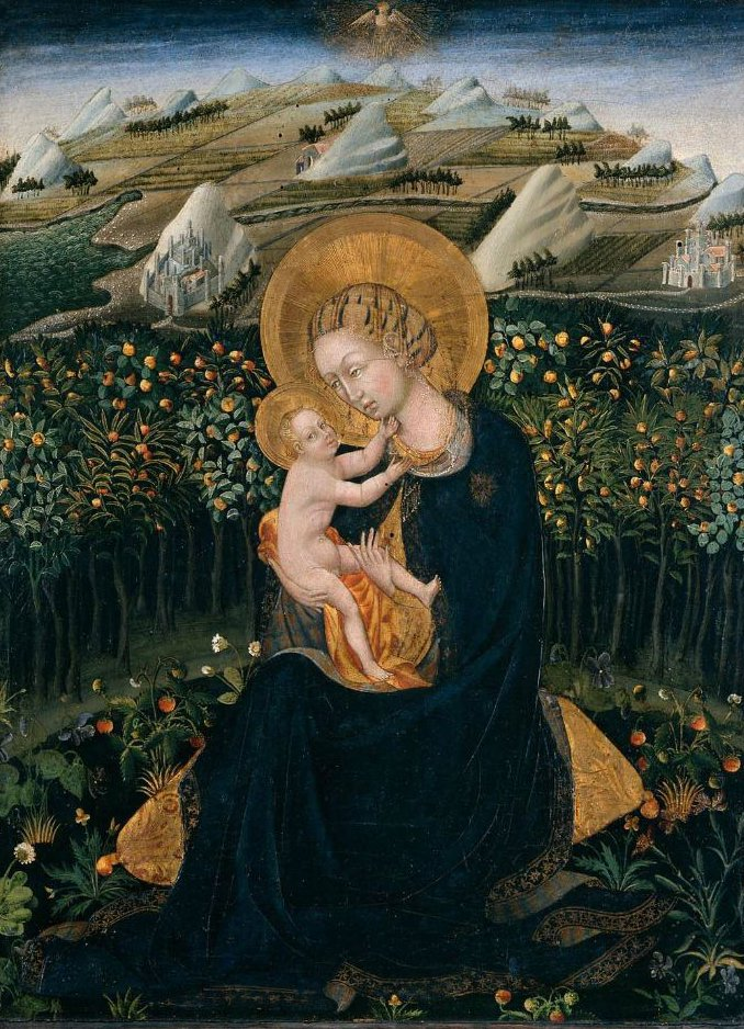 Madonna of Humility 1442 | Giovanni di Paolo | oil painting