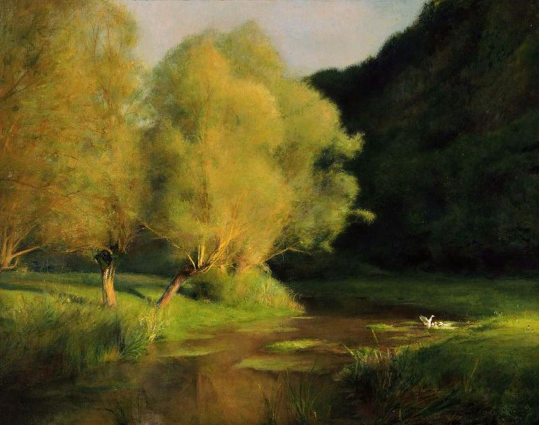 Willows by a Stream 1908 | Pascal Adolphe Jean Dagnan Bouveret | oil painting