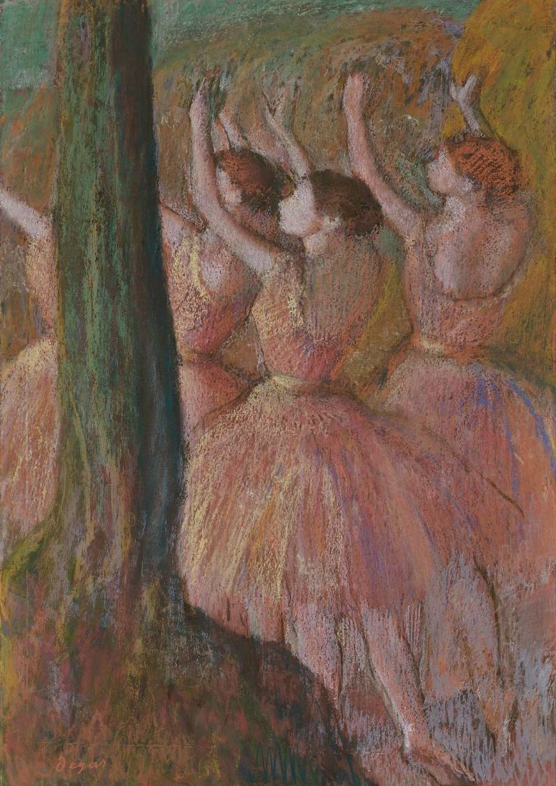 Dancers in Rose 1900 | Edgar Degas | oil painting