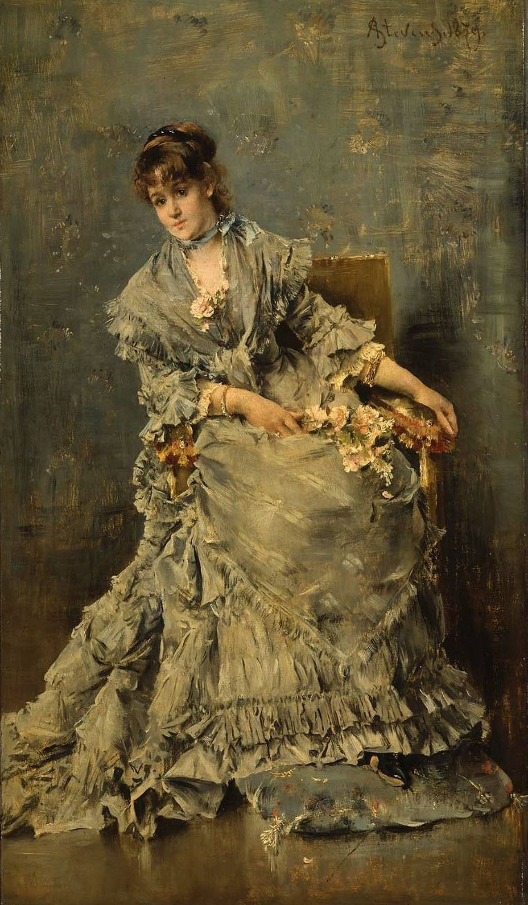 The Attentive Listener 1879 | Alfred Stevens | oil painting