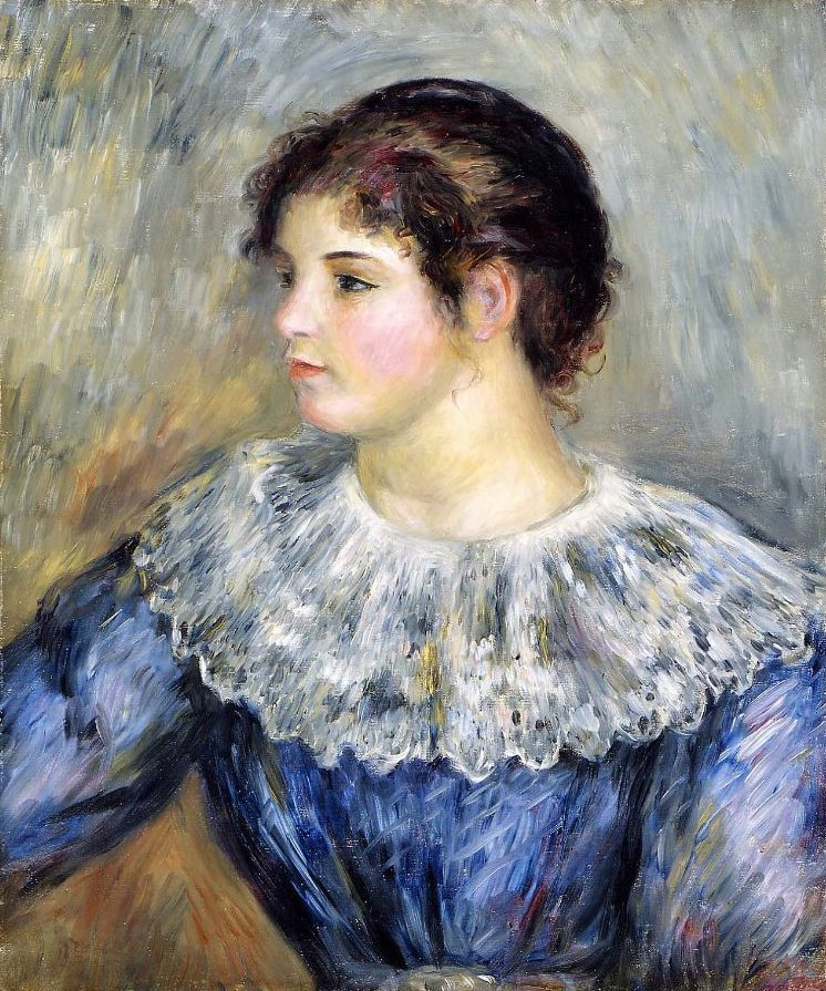 Bust Portrait of a Young Woman 1850 | Pierre Auguste Renoir | oil painting