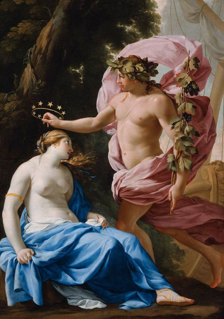 Bacchus and Ariadne 1640 | Eustache Le Sueur | oil painting