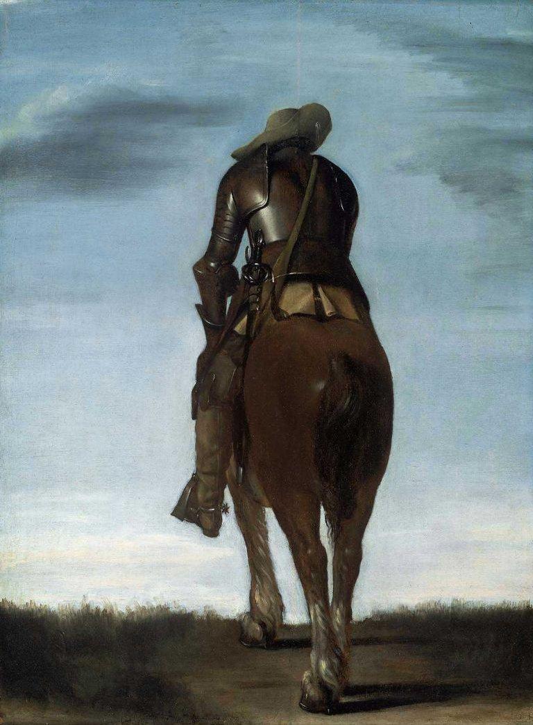 Man on Horseback 1634 | Gerard ter Borch | oil painting