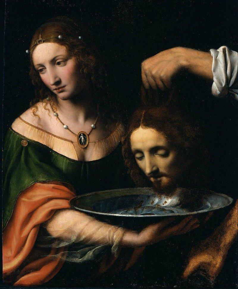 Salome with the Head of Saint John the Baptist   Bernardino Luini   oil painting