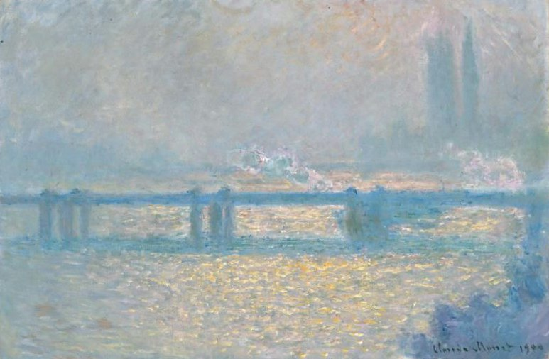 Charing Cross Bridge overcast day 1900 | Claude Monet | oil painting