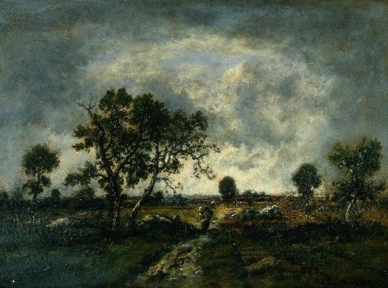 Fields at Barbizon | Narcisse Virgile Diaz de la Pena | oil painting