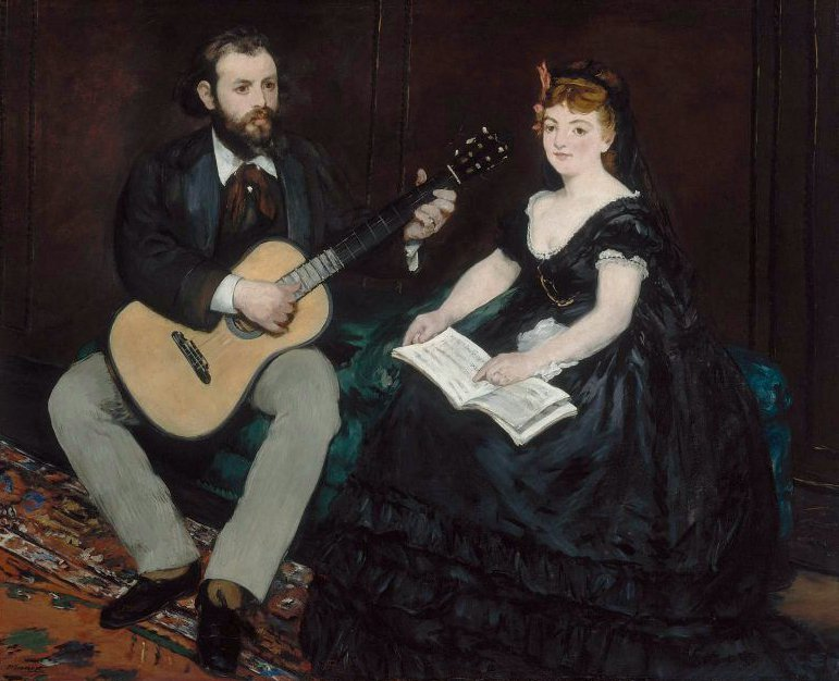 Music Lesson 1870 | Edouard Manet | oil painting