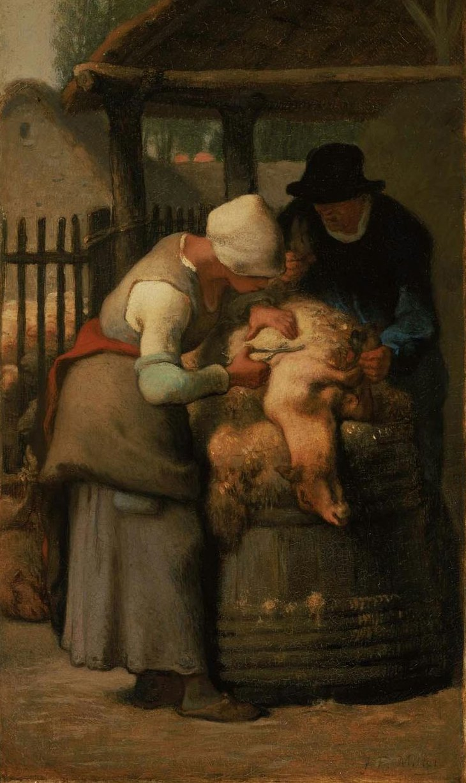 Shearing Sheep Shearing Sheep | Jean Francois Millet | oil painting