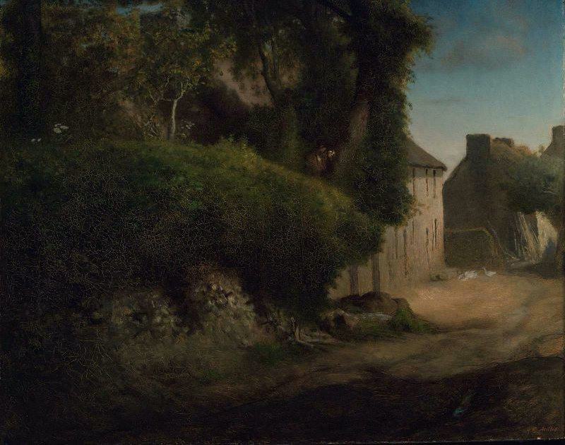 Millets Family Home at Gruchy 1854   Jean Francois Millet   oil painting