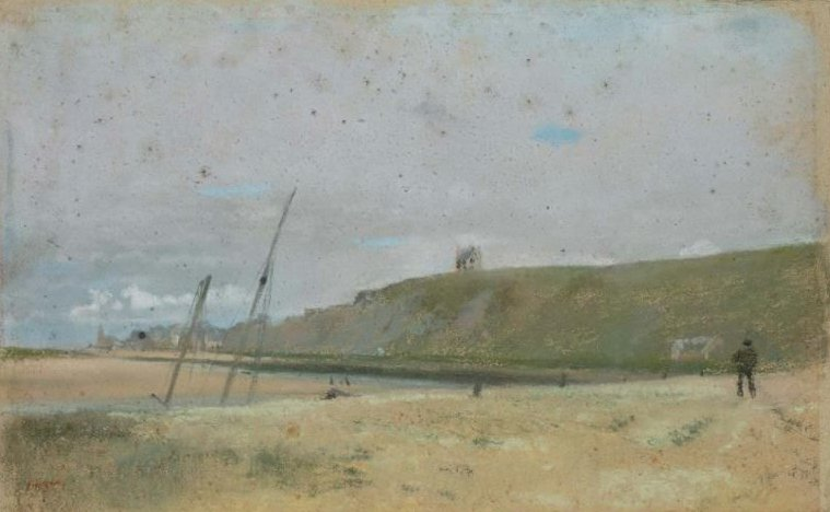 Cliffs on the Edge of the Sea 1869 | Edgar Degas | oil painting