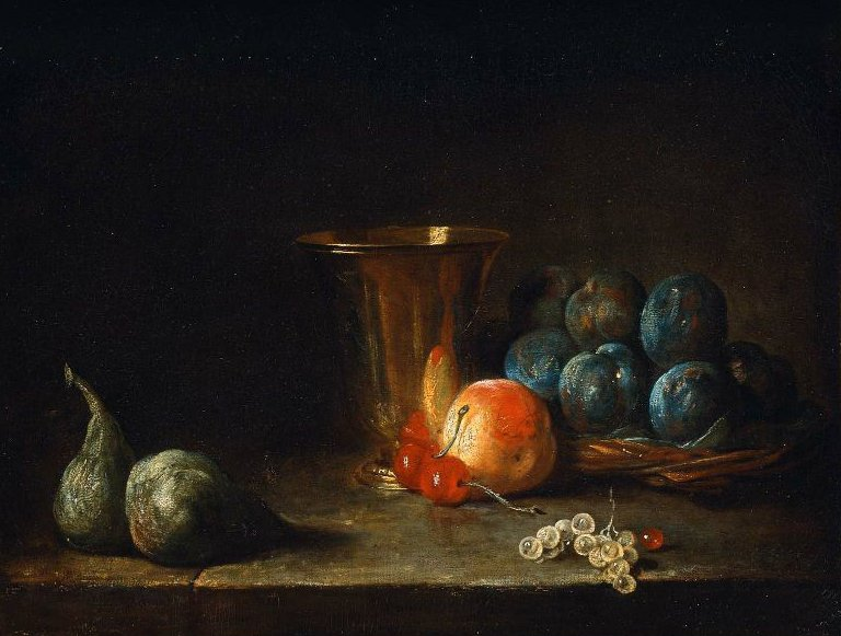 Goblet and Fruit 18th or 19th century | Jean Simeon Chardin | oil painting