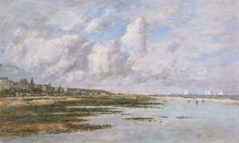 Deauville at Low Tide 1897 | Eugene Louis Boudin | oil painting