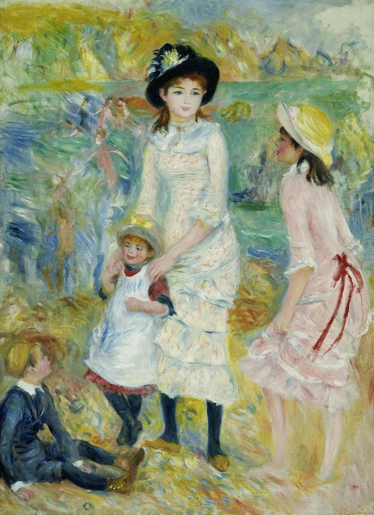 Children on the Seashore Guernsey 1883 | Pierre Auguste Renoir | oil painting