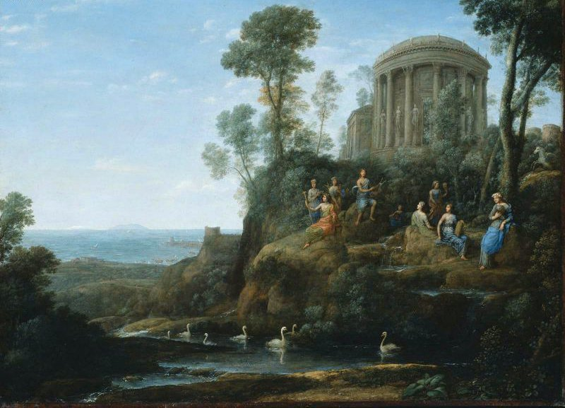Apollo and the Muses on Mount Helicon 1680 | Claude Lorrain | oil painting