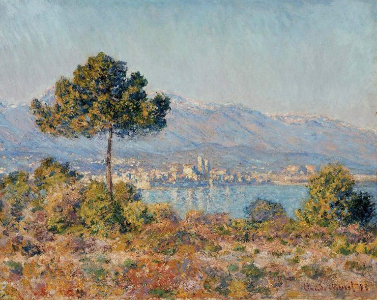 Antibes Seen from the Plateau Notre Dame 1888 | Claude Monet | oil painting