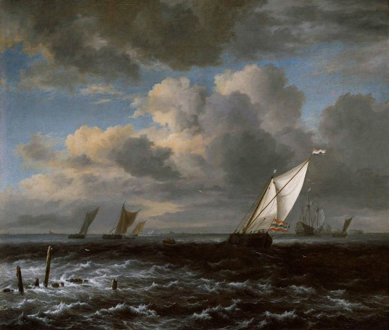 Rough Sea 1670 | Jacob Isaacksz van Ruisdael | oil painting